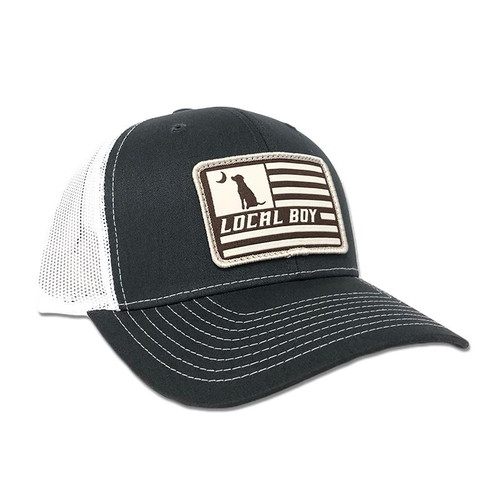 Local Boy Outfitters Flag Patch Charcoal/White Hat