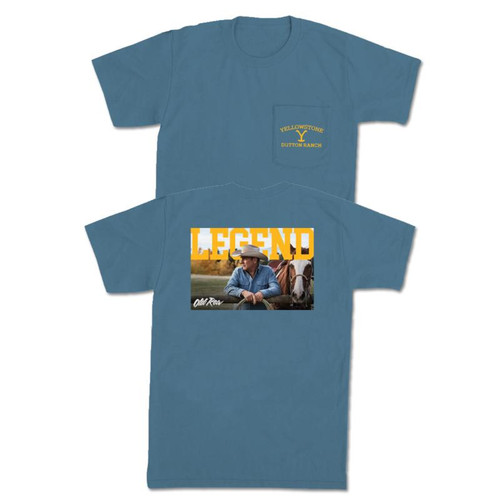 Old Row The Dutton Pocket Tee Blue