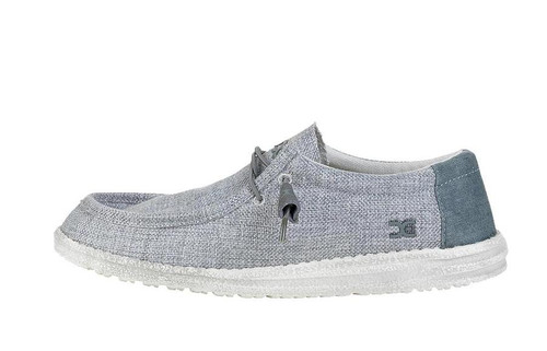 Hey Dude Men's Wally Woven Grey White