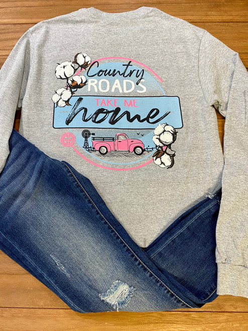 Girlie Girl Originals Country Roads Sport Grey LS