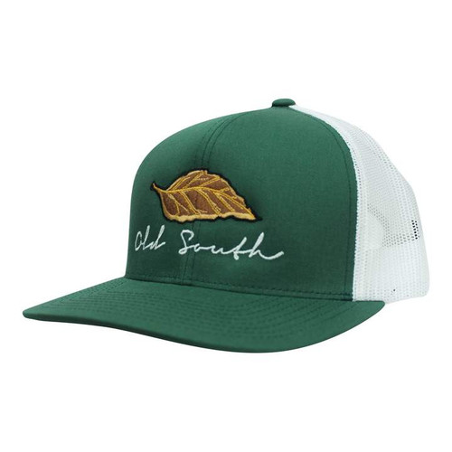 Old South Apparel Tobacco Forest Green/White Hat