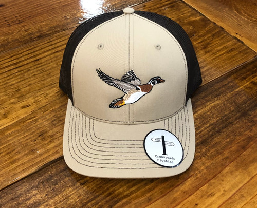 Crossroads Clothing Center Wood Duck Hat Khaki/Brown