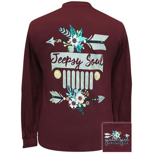 Girlie Girl Originals Jeepsy Soul 2 Maroon LS