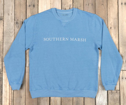 Southern Marsh Seawash Sweatshirt Washed Blue