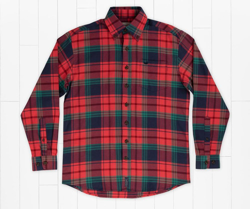 Southern Marsh Sussex Plaid Flannel Navy & Red