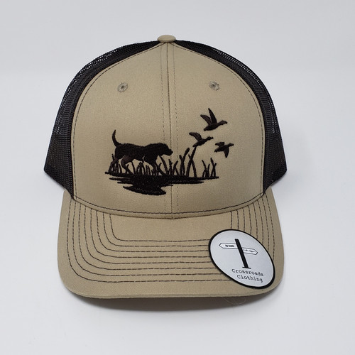 Crossroads Clothing Lab & Duck Silhouette Khaki/Brown Hat