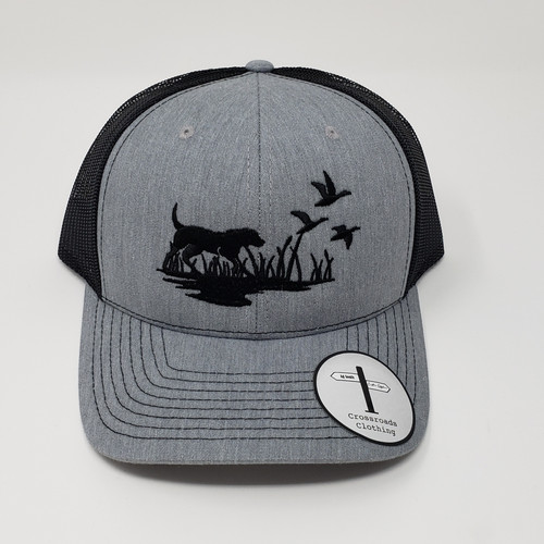 Crossroads Clothing Lab & Duck Silhouette Heather Grey/Black Hat