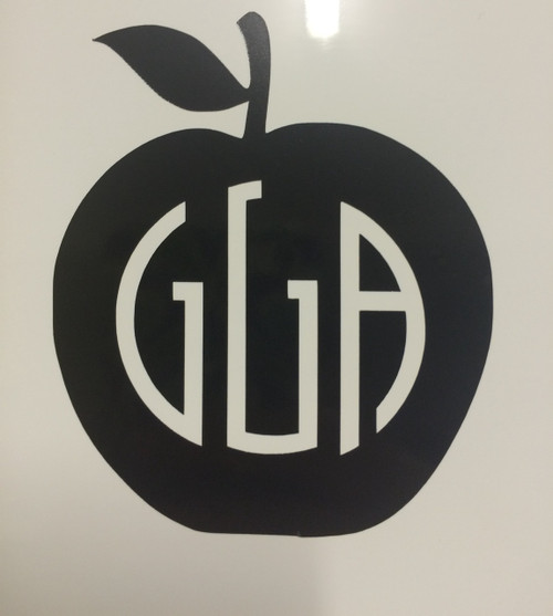Apple Monogrammed Decal