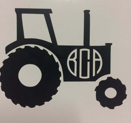 Tractor Monogrammed Decal