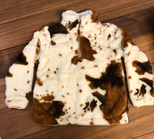 Faux Fur Cowhide Print Sherpa YOUTH