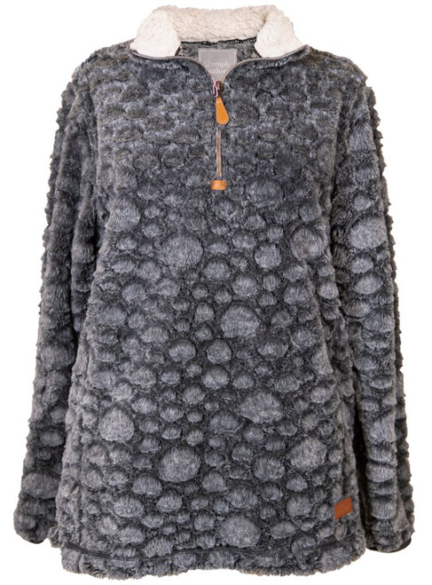 Simply Southern Dot Pullover Dark Gray