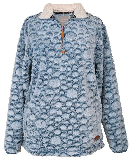 Simply Southern Dot Pullover Blue