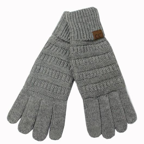 Girlie Girl Melange Grey Gloves Youth