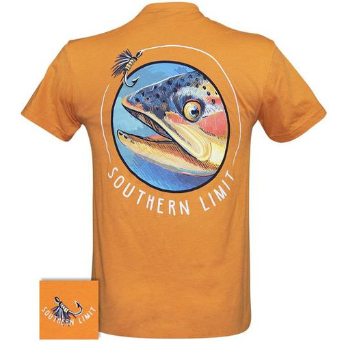 Southern Limit Circle Fish Orange Short Sleeve