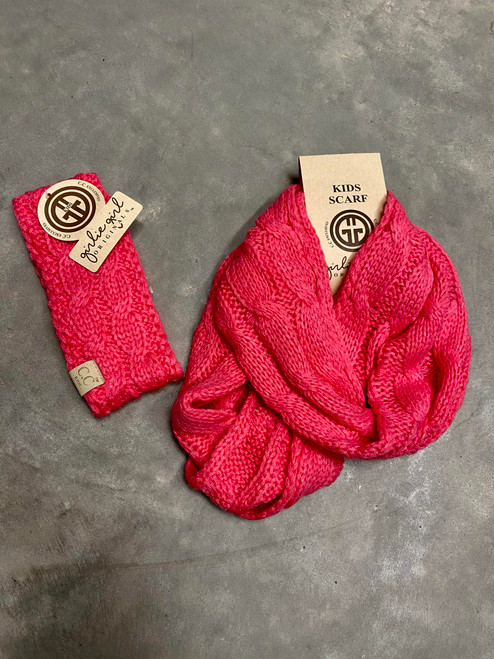 C.C. Youth Headwrap New Candy Pink