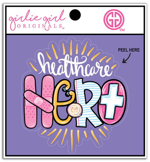 Girlie Girl Originals Healthcare Hero Decal/Sticker