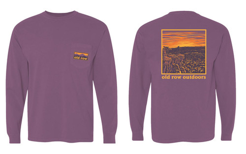 Old Row The Sunrise Pocket Tee Maroon LS