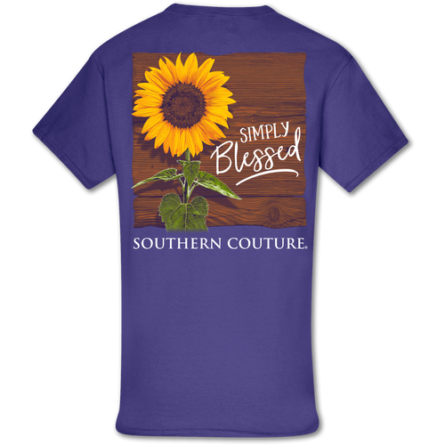 Southern Couture Simply Blessed Sunflower SS Lilac