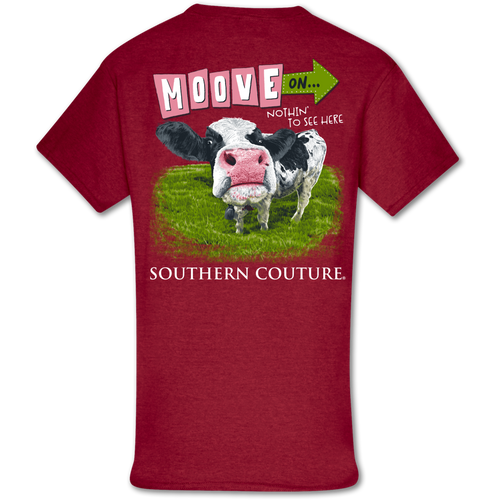 Southern Couture Move on Cow SS Antique Cherry Red