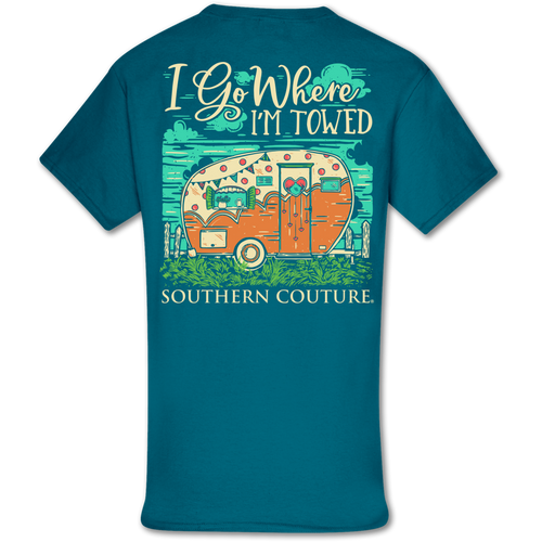 Southern Couture Where I'm Towed SS Galapagos Blue