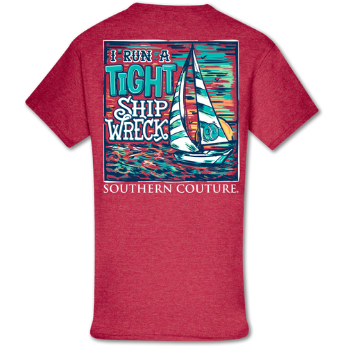 Southern Couture Tight Ship Wreck SS Heather Red