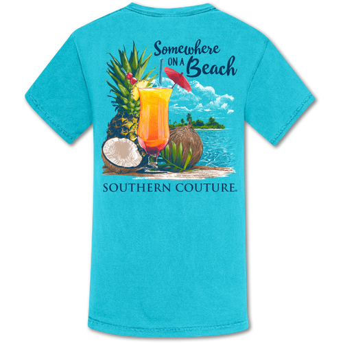 Southern Couture Somewhere on Beach Lagoon Blue