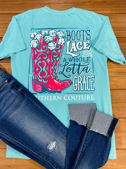 Southern Couture Boots Lace & Grace Chalky Mint