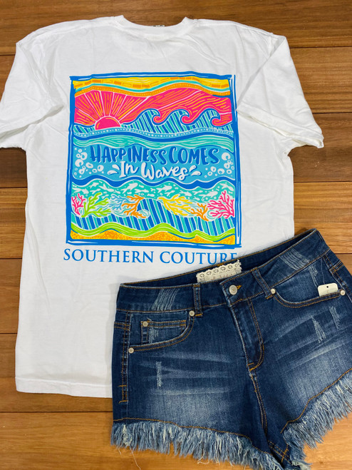 Southern Couture Happiness Comes In Waves White
