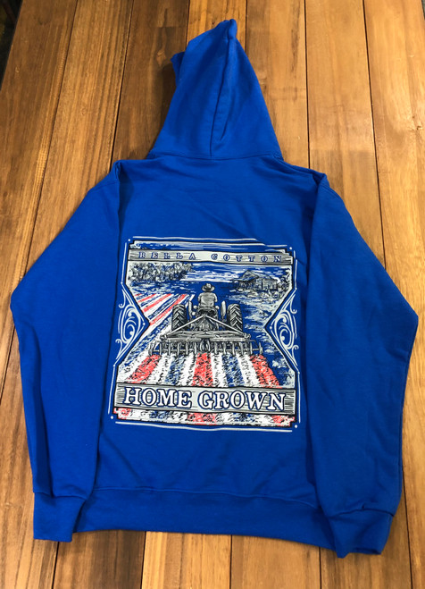 Bella Cotton Home Grown Hoodie Royal Blue