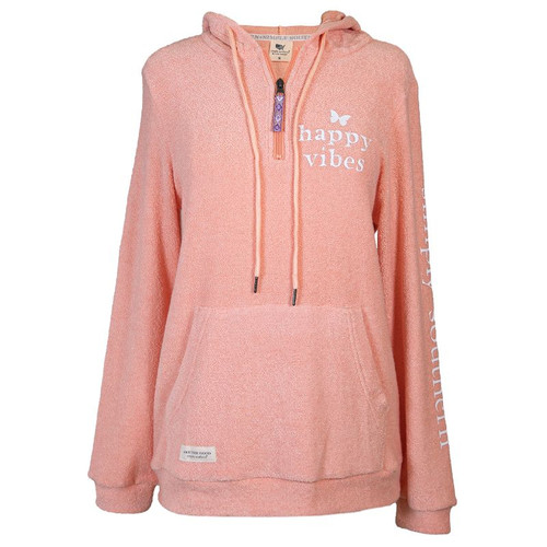 Simply Southern Terry Hoodie Happy