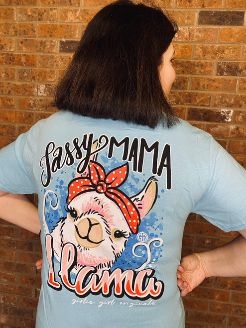 Girlie Girl Originals Mama Llama Sky Blue