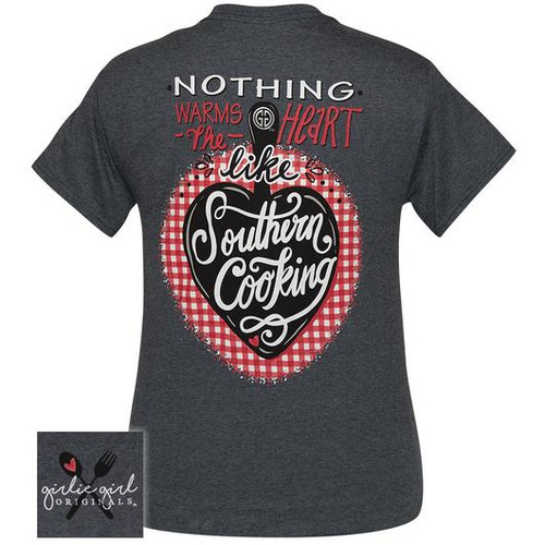 Girlie Girl Originals Southern Cooking Dark Heather Grey