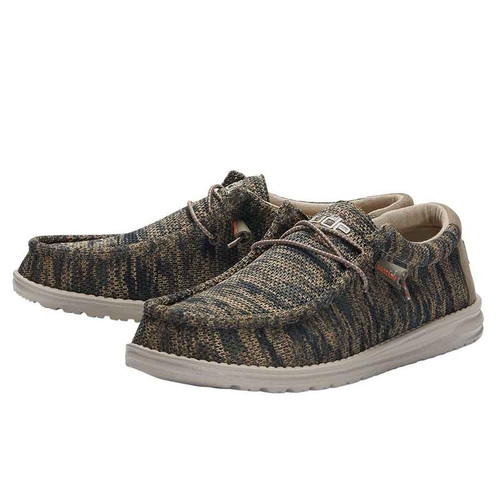 Hey Dude Wally Sox Woodland Camo
