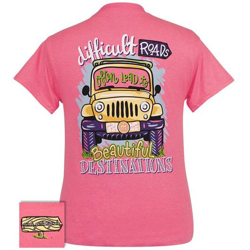 Girlie Girl Originals Beautiful Destinations Safety Pink