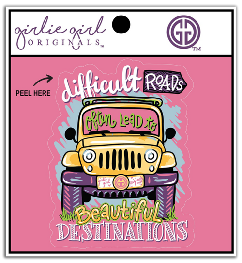 Girlie Girl Originals Beautiful Destinations Decal/Sticker