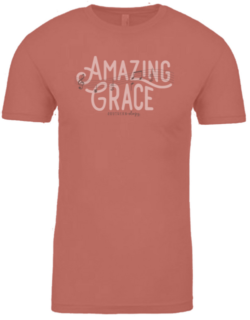 Southernology Amazing Grace Music Notes Desert Pink