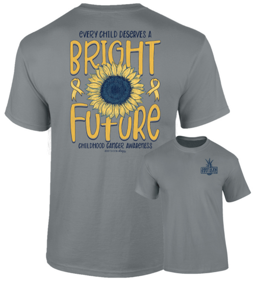 Southernology Childhood Cancer Bright Future Gray