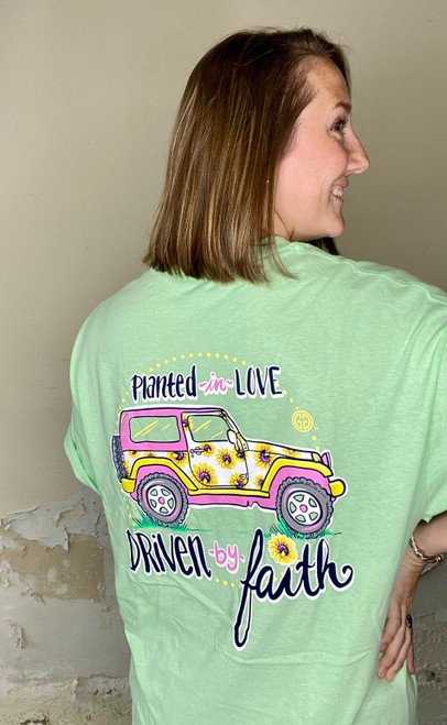 Girlie Girl Originals Driven by Faith Mint Green