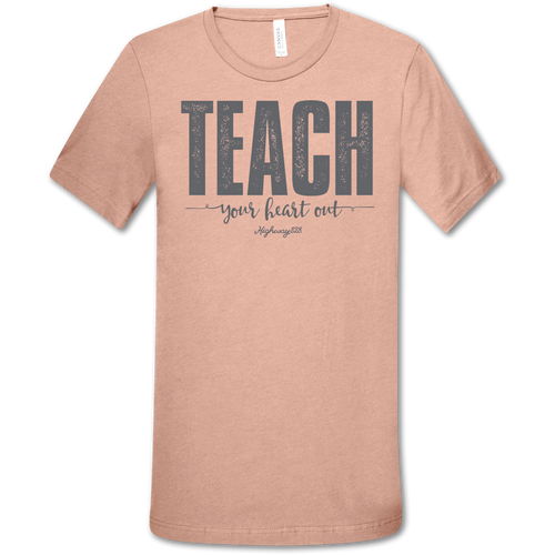 Highway 828 Teach Your Heart Out SS Heather Prism Peach