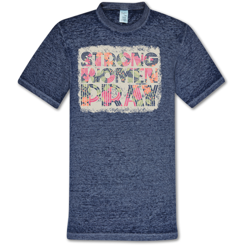 Highway 828 Strong Women Pray SS Colortone Russian Blue