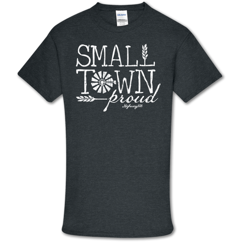 Highway 828 Small Town Proud SS Dark Heather