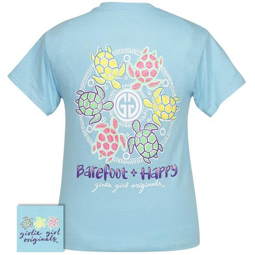 Girlie Girl Originals Barefoot And Happy Sky Blue