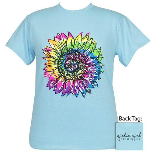 Girlie Girl Originals Tie Dye Sunflower Sky Blue