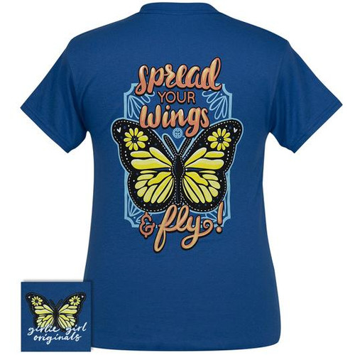 Girlie Girl Originals Spread Your Wings Neon Blue