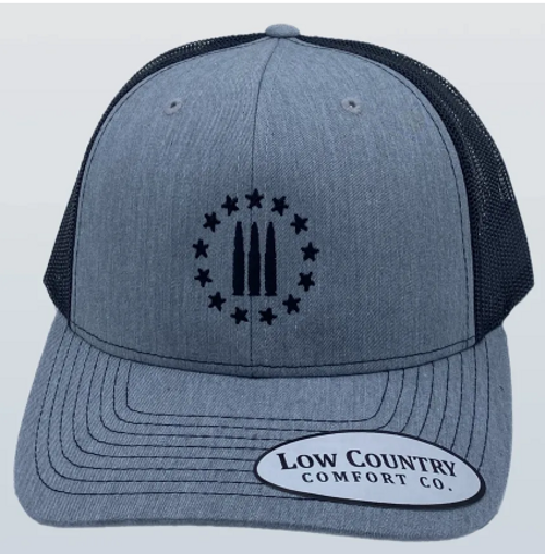 Low Country 3 Percenter Heather Grey/Black Hat