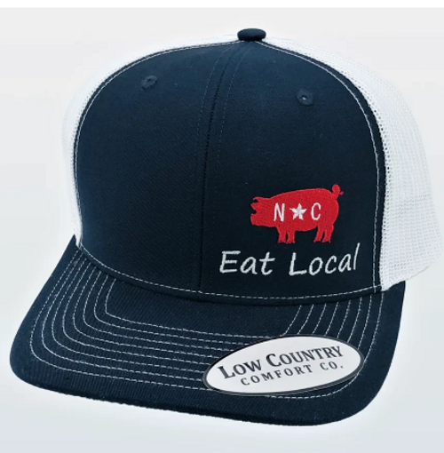 Low Country NC Eat Local Pig Navy/White Hat