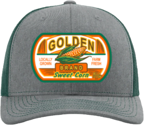 Bella Cotton Golden Corn Heather Grey/Green Hat