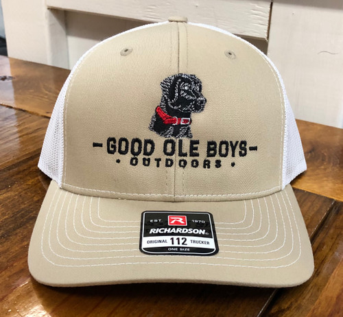 Good Ole Boys Outdoors Black Lab Khaki/White Hat