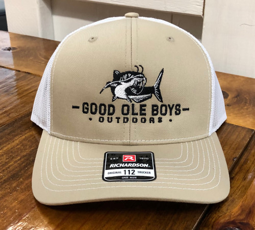 Good Ole Boys Outdoors Catfish Khaki/White Hat
