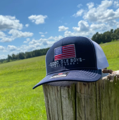 Good Ole Boys Outdoors Merica Navy/White Hat